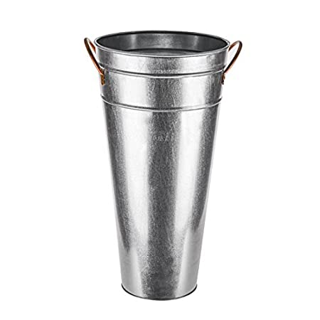 46cm Galvanised Vase With Ears Amazon Kitchen Home