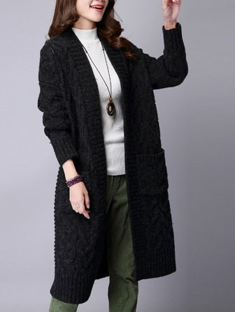 Collection Womens Black Sweater Coat Pictures - Reikian