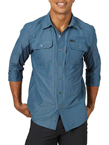 ATG by Wrangler Men's Long Sleeve Mixed Material Shirt