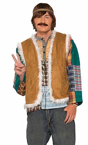 Forum Novelties Men's Hippie Faux Fur Trimmed Vest, Neon, Standard