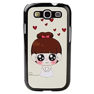 ZXM-Estilo de dibujos animados Chica patrón duro caso para Samsung I9300 Galaxy S3