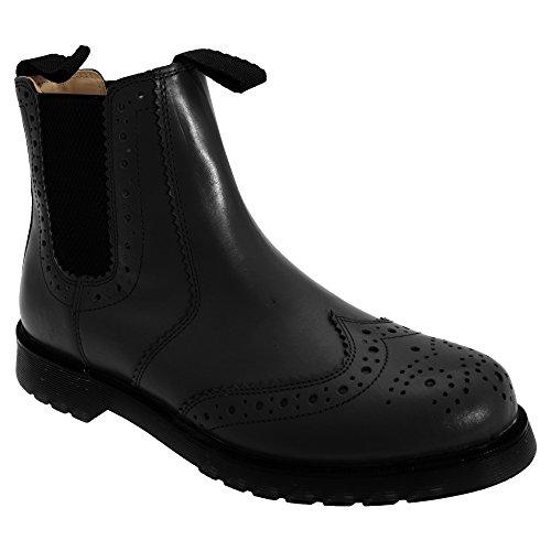 Gusset Dealer Schwarz Boots Brogue Grafters Unisex t1XxqwanIE