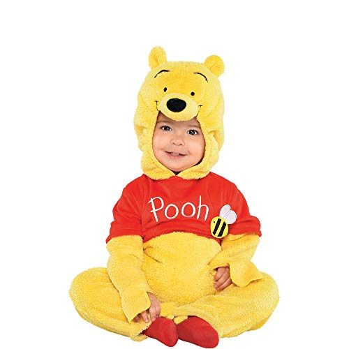Suit Yourself Winnie the Pooh Costume for Babies, Size 6-12 Months, Includes a Soft Jumpsuit and a Pooh Face Hood]()