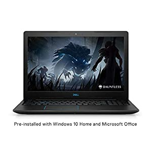 DELL Gaming Laptop 8th Gen Core i5-8300H/8GB/512GB SSD/Windows 10 + MS Office/4GB NVIDIA 1050 Ti Graphics), Black