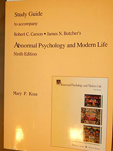 Abnormal Psychology & Modern Life (Study Guide)