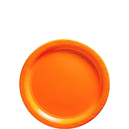 (Big Party Pack Orange Peel Paper Plates | 7