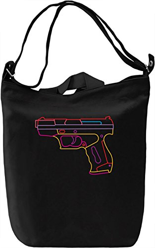 Neon gun Borsa Giornaliera Canvas Canvas Day Bag| 100% Premium Cotton Canvas| DTG Printing|