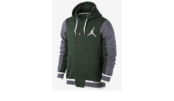 Nike - Mode H - Chaqueta chaquetas Jordan Varsity Verde verde Talla:L: Amazon.es: Deportes y aire libre