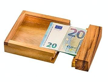 Caja fuerte para billetes de Zederello, caja fuerte de madera como envoltorio de regalo,