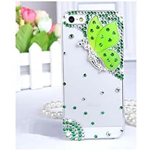 YXF Transparent Case Butterfly Fashion Diamond-encrusted Diamante Back Case for iPhone 4/4S (Assorted Colors) , Red