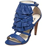 Velvet Angels Women's Limonaire Open-Toe Pump,Royal Blue,35.5 EU (US Women's 5.5 M)