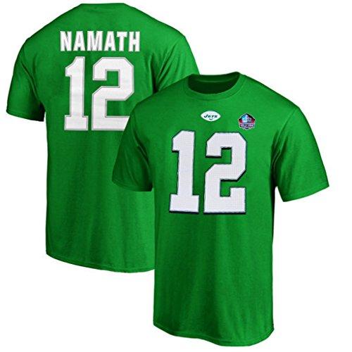 New York Jets NFL Mens Majestic Joe Namath Player Shirt Kelly Green Size 4XT