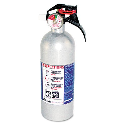 Auto Fire Extinguisher, f/ Automobile Fires, 2lbs, Aluminum, Sold as 1 Each