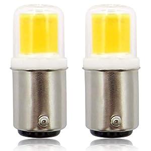 Ba15d LED Bulbs, 220V 4W COB Pygmy Bulb, Small Bayonet Cap, Replacing 30W Sewing Machines/Cooker Hood SBC Light Bulb…