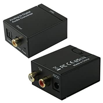 Adaptadores de Audio, Toslink coaxial óptico digital a convertidor de audio RCA analógico (Color