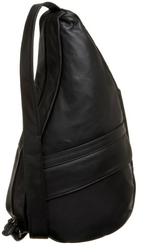 AmeriBag Classic Leather Healthy Back Bag tote Medium,Black,one size by AmeriBag