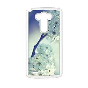 Elegant White Flower Fashion Personalized Clear Cell Phone Case For LG G3