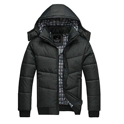 Partiss Mens Parka Winter Coat L Darkgrey