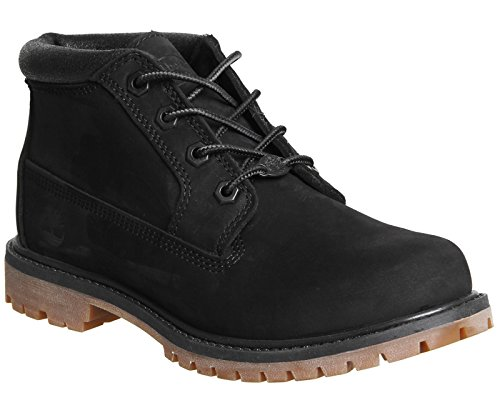 Nellie Ankle Boots Black Double Nubuck Women''s Timberland Chukka Metallic Collar SqwIn5O