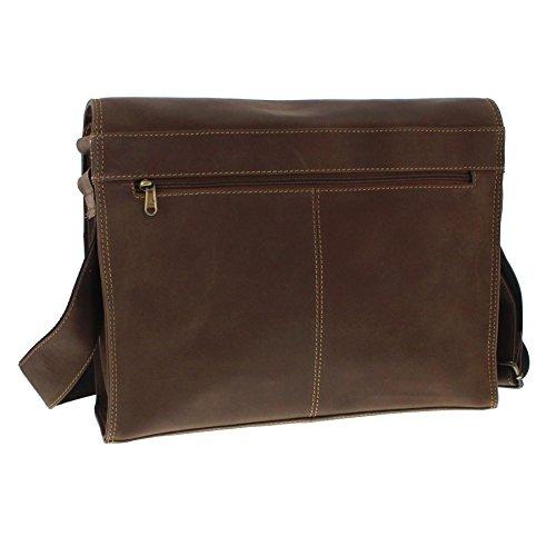 hombre cuero Bolso marrón de marrón al marrón Indian para hombro marrón Mood nqXw5If80