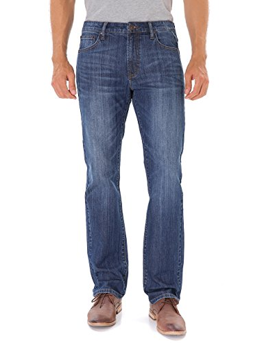 Indigo alpha Straight Fit Jeans for Men (805,W36/L32)