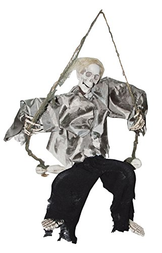 Scary Haunted House Kicking Reaper On Swing Horror Party Halloween Prop]()