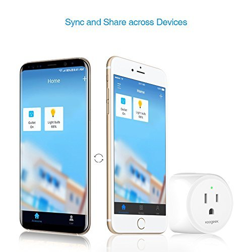 Koogeek Smart Plug, WiFi Outlet, on 2.4Ghz Network, for iOS and Android Devices Remote Control, Night Light, Works with Alexa and Apple HomeKit by Koogeek (Image #2)