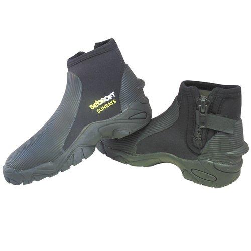 Seasoft Sunray 3 mm Low Cut Boots with Zipper - XX-Small ()