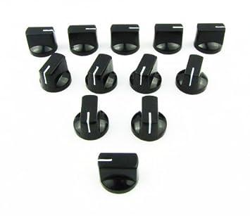 IKN® Plano cabeza Audio las perillas plásticas para los amplificadores de válvula guitarra bajo pedales