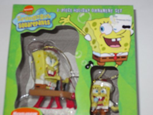 SpongeBob Squarepants 2 Piece Christmas Tree Ornament Set