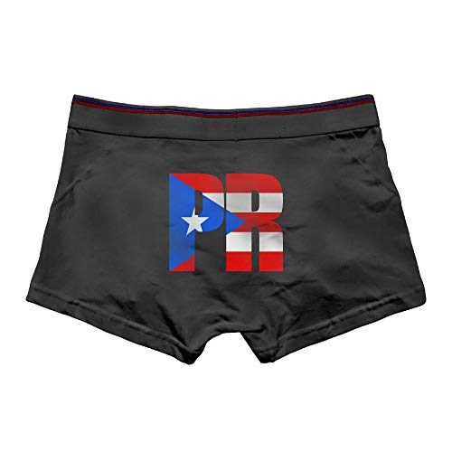MOCSTONE Men's Underwear Puerto Rican Flag Cotton Boxer Briefs