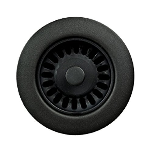 (Houzer 190-9265 Sink Strainer for 3.5-Inch Drain Openings, Matte Black)