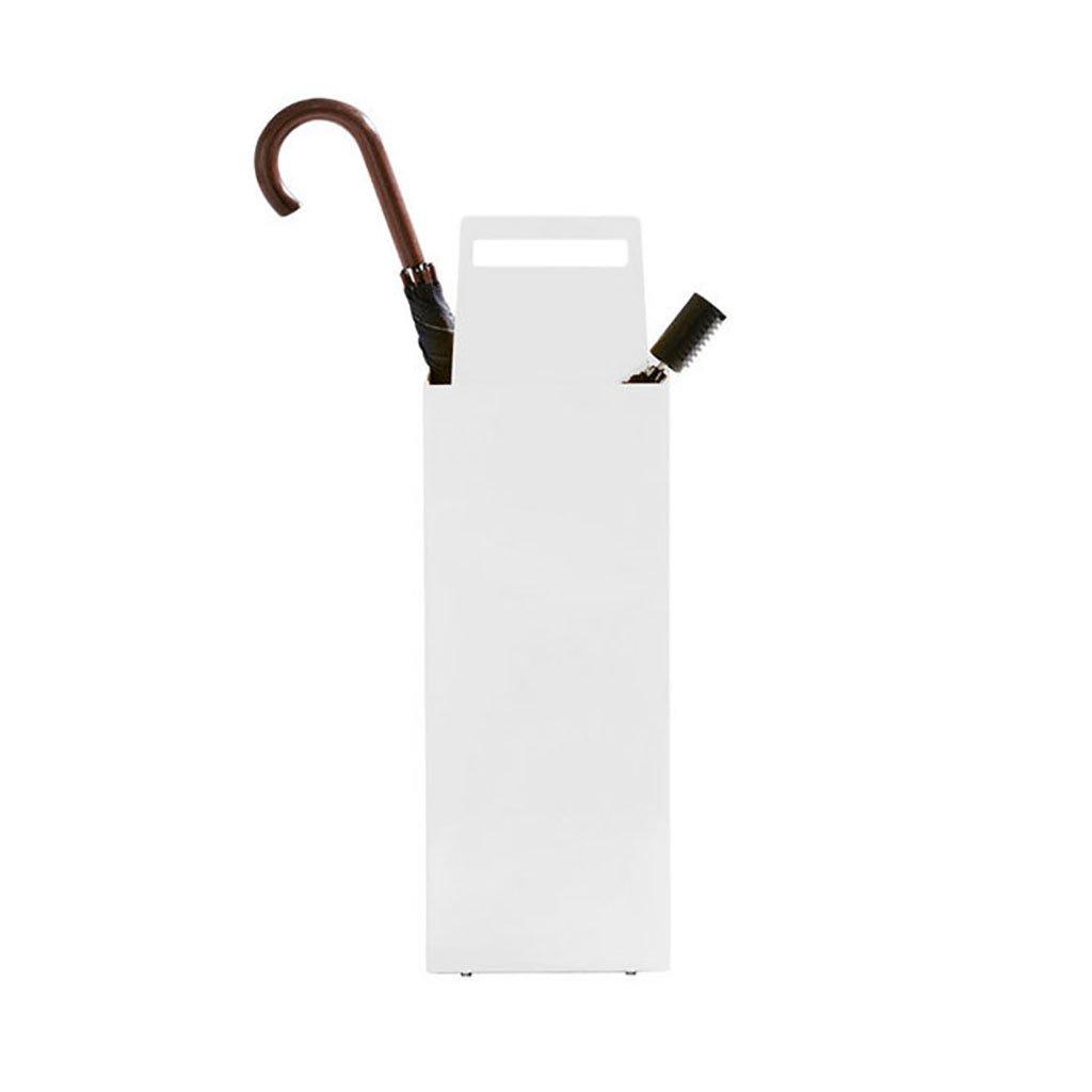 傘の収納 傘スタンドホーム傘スタンドオフィス傘バケツフロアスタンド 貯蔵傘 (色 : 白) B07F59CXXB 白 白