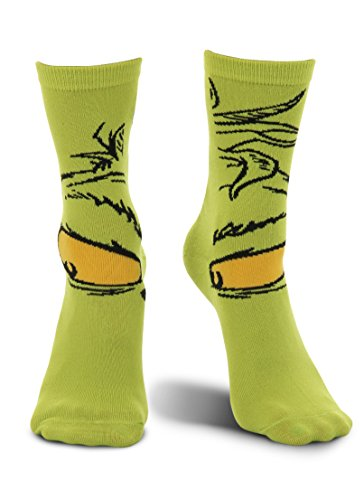 elope Dr. Seuss Grinch Christmas Costume Crew Socks -