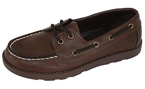 Toddler Boys' Finnegan Boat Shoes Brown, 4 - Cherokee Eyelet
