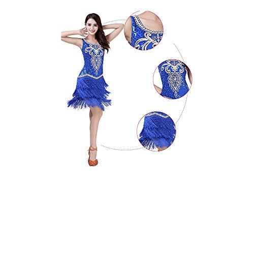 Da Ballroom Abito Femminile Dancewear Dress Latino Floral Dance Gatsby Paillettes Donne Cocktail Samba Frangia Blu Sway Afcity Nappine Tango Donna Ballo Costumi vx5IdwdY