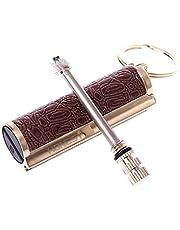 Keychain Flint Metal Matchstick Fire Starter, Great Kerosene Refillable Lighter, and Emergency Survival Gear