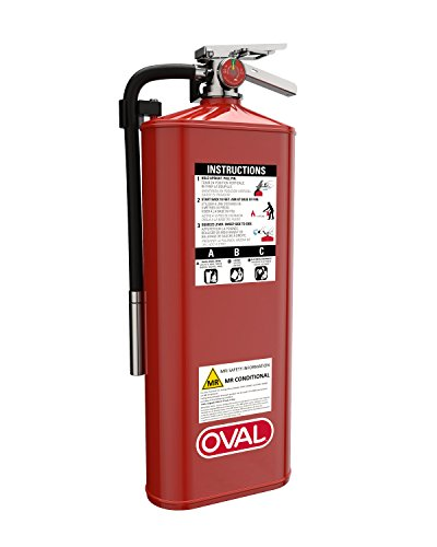 Oval Brand 10 lb ABC Fire Extinguisher Model 10HABC-MR, Nonmagnetic MRI Safe to 3-Tesla
