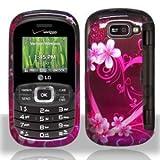 Importer520 Design Rubber Coating Hard Case Cover Faceplate for Lg Octane Vn530 /Verizon (Purple Love)