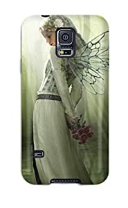 [TPTyFth6621FoFpV]premium Phone Case For Galaxy S5/ Blue Rose Fantasy Tpu Case Cover