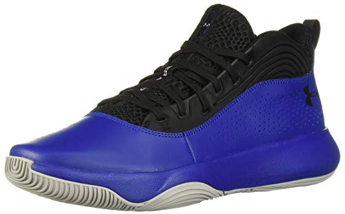 Under Armour Men's Lockdown 4 Basketball Shoe, Black (002)/Royal, 11.5
