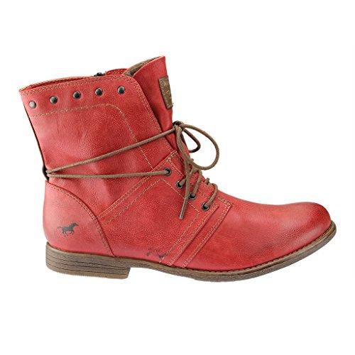 MustangSchnür-Booty - botas de caño bajo Mujer, color Rojo, talla 43
