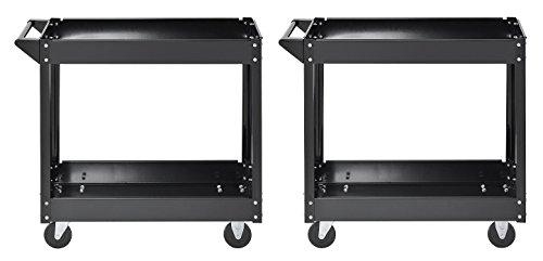 - Muscle Rack SC3016 Industrial Black Commercial Service Cart, Steel, 220Lbs Capacity, 33