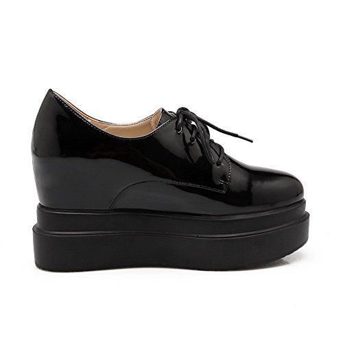Balamasa Girls Western Patent Leather Pumps-Zapatos Negro