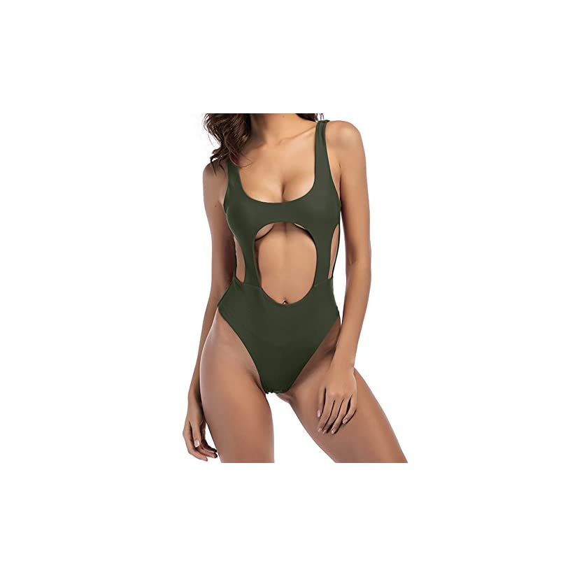76e67e106e014 Zaoqee Women's High Cut Backless Swimsuit Sexy Monokini Thong One Piece  Bathing Suit - Sexy GXLingerie For Latest Lingerie, Intimates, Bras &  Panties