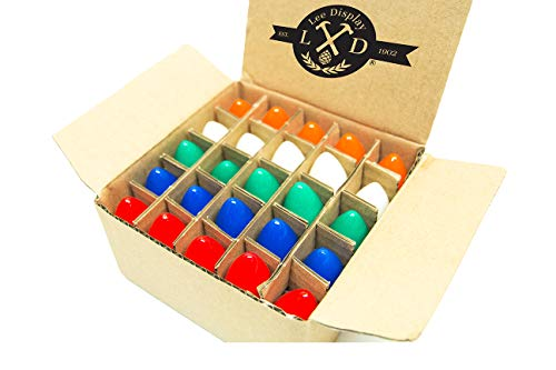 EST. LEE DISPLAY L D 1902 C-7 Multi-Color Ceramic Twinkle Bulbs 1 Box of 25 C7 Multi Solid Color Twinkle Blinking Bulbs (Lighting Outdoor Est)