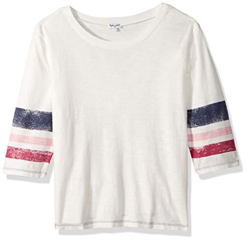 Splendid Big Girls' Roller Stripe Bell Sleeve Tee, Off White, 14 ()