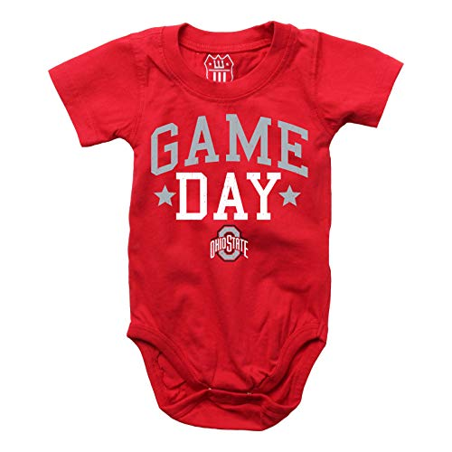 Cotton Onesie Ohio (Wes and Willy Ohio State Game Day Creeper, 18M)