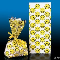 Smiley Face Goody Treat Bags (Face Goody Bag)
