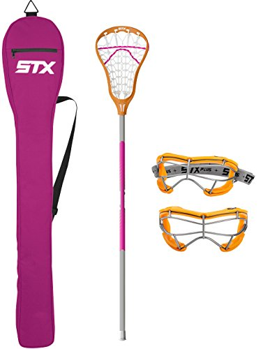 STX Lacrosse Exult 200 Starter Pack, Clementine/Punch (Best Lacrosse Stick For Beginners)